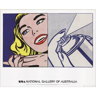 Roy Lichtenstein, Girl and Spray Can, 2013 Poster