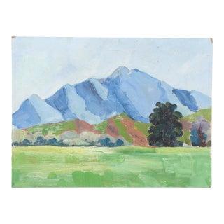 Vintage Oil Landscape Painting, Solvang, California