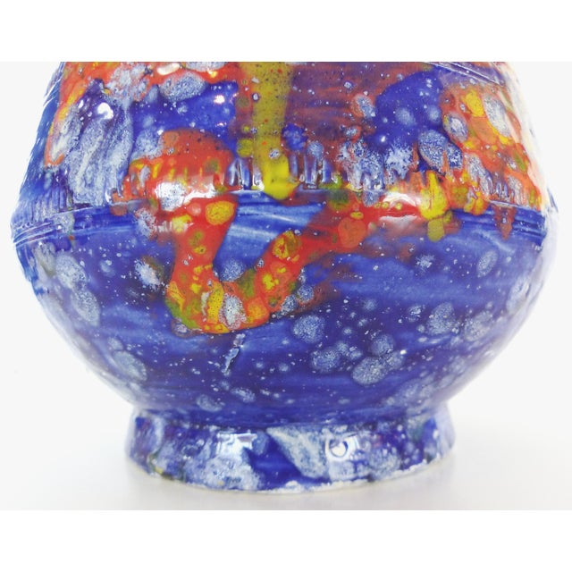 Multi-Colored Glazed Ceramic Vase by Gary Fonseca - Image 3 of 8