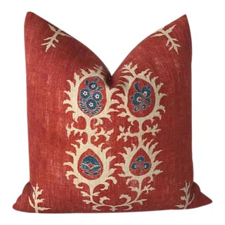 Red Tribal Flame Pillow Cover