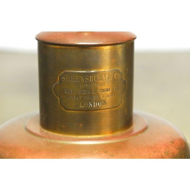 Brass Shrewsbury Tea Caddy Lamp - Image 5 of 6