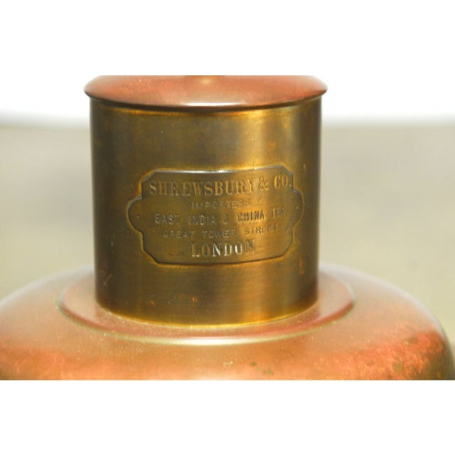 Image of Brass Shrewsbury Tea Caddy Lamp