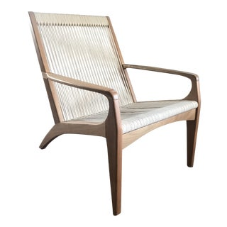 Sossego Gisele Brazilian Wood Lounge Chair