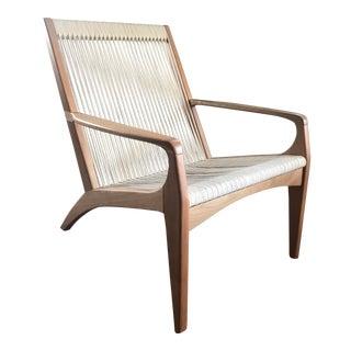Sossego Gisele Brazilian Wood Lounge Chair