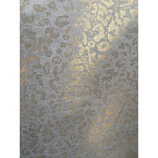 Schumacher Tarnished Gold Leopard Linen