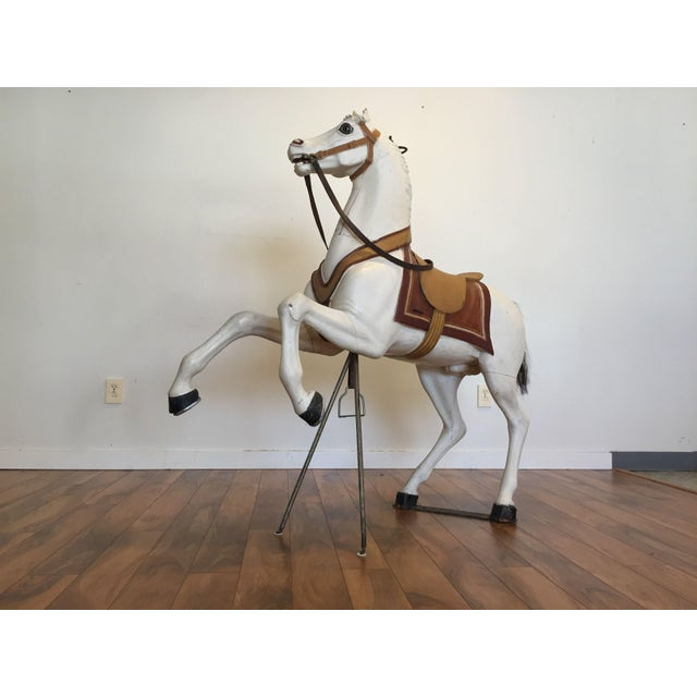 Antique Carved Wood Carousel Horse - Image 9 of 11