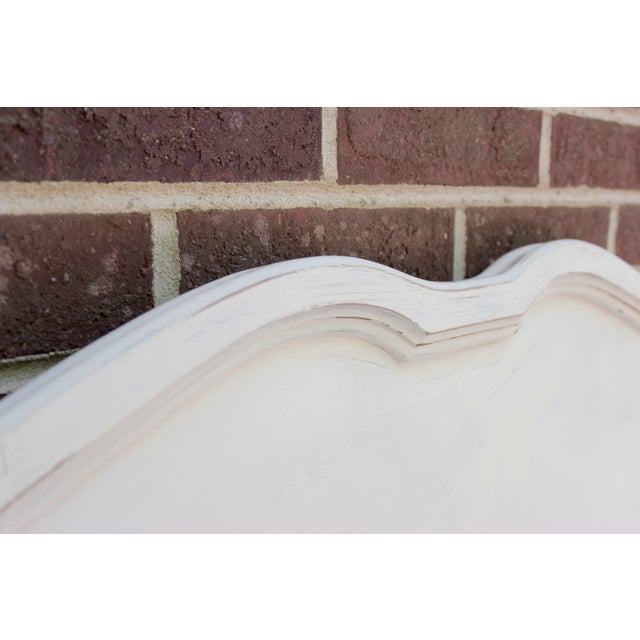 French Provincial Painted White Full Bedframe - Image 3 of 7