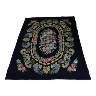 Antique Hooked Rug - 5′11″ × 8′2″