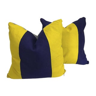 Nautical Signal Flag Throw Pillows - A Pair