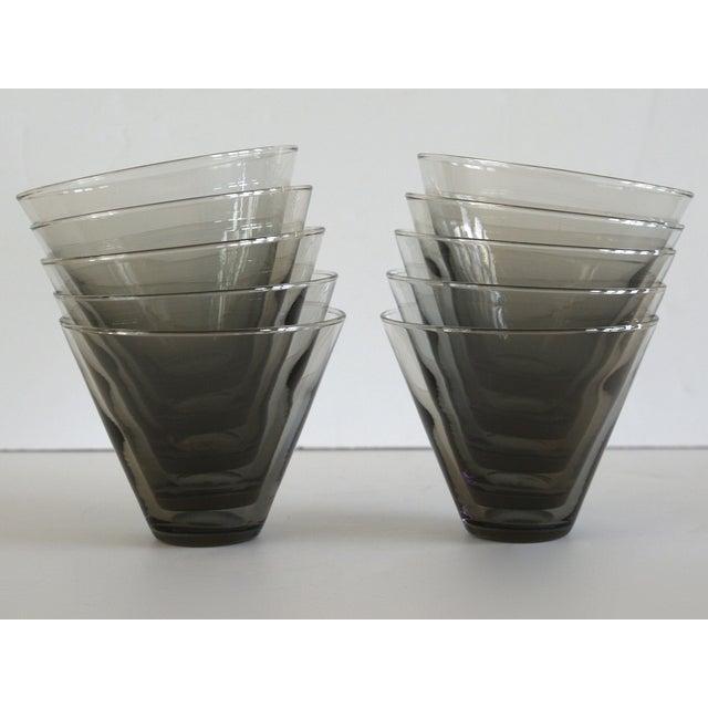 Modern Smoke Gray Cocktail Glasses - Set of 10 - Image 8 of 11