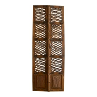 Vintage Lattice Doors - A Pair