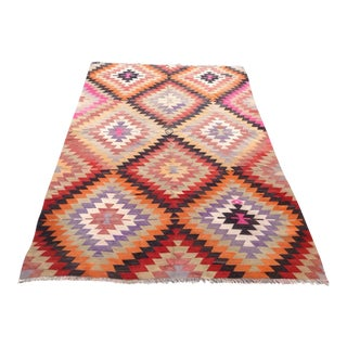 Vintage Turkish Kilim Rug - 6′ × 8′9″