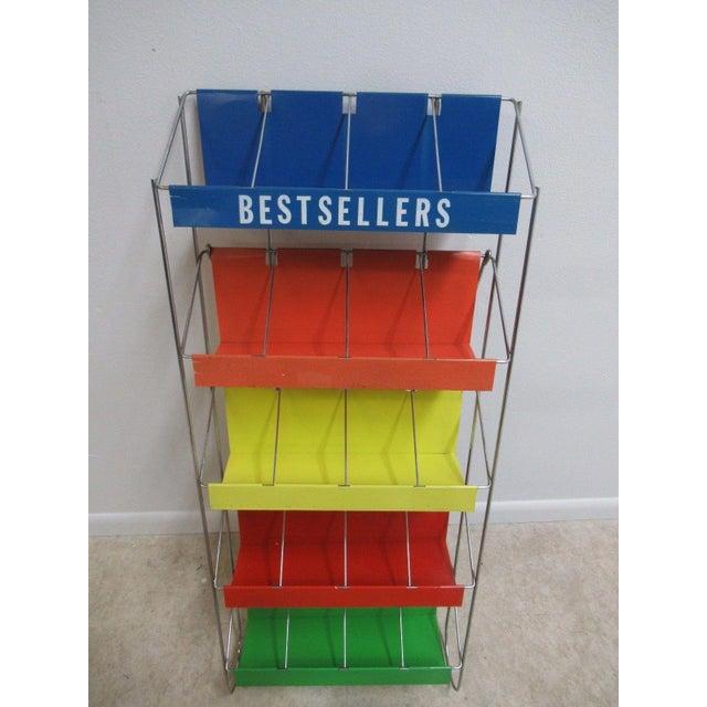 Vintage Chrome Multicolor Book Rack - Image 3 of 11