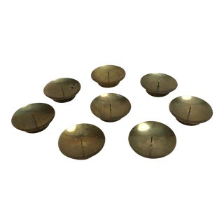 Vintage Brass Plated Candle Holders - Set of 8