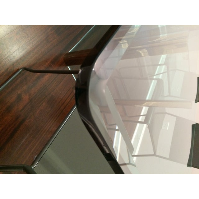 Large Pace Collection Glass & Brass Dining Table - Image 10 of 11