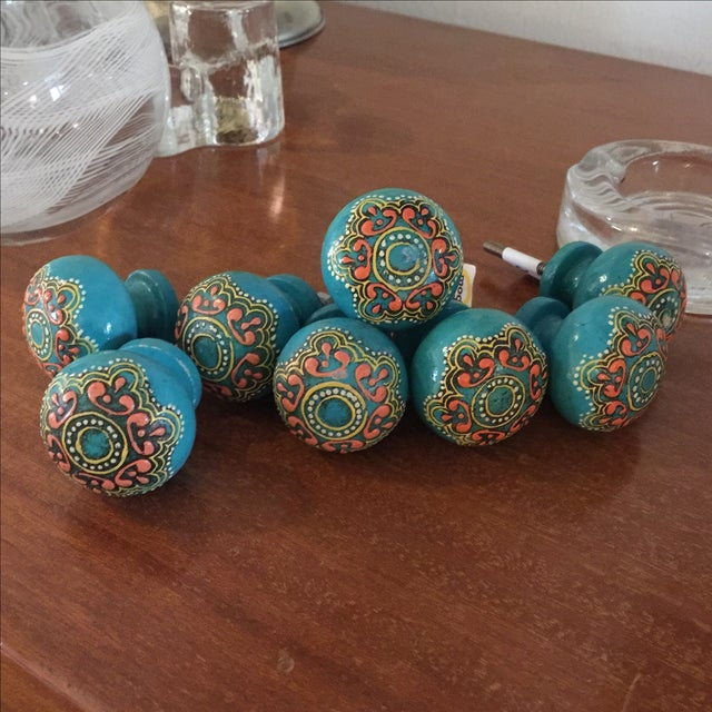Bohemian Turquoise Drawer Pulls - Set of 8 - Image 5 of 5