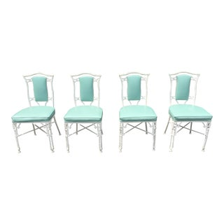 Kessler Faux Bamboo Cast Iron Dining Chairs - Set of 4
