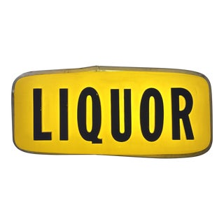 Double Sided Lighted Liquor Sign