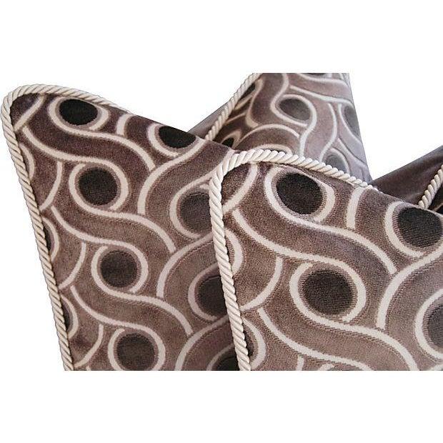 Custom Osborne & Little Cut Velvet Pillows - Pair - Image 4 of 7