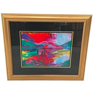Lake & Mountains Painting by Peter Max