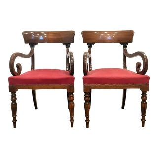 Swedish Empire Armchairs - Pair