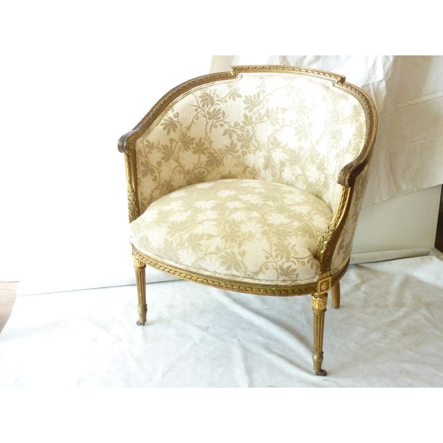 French Giltwood Bergere Chair - Image 3 of 11