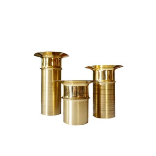 Tapio Wirkkala Bronze Candle Holders- Set of 3