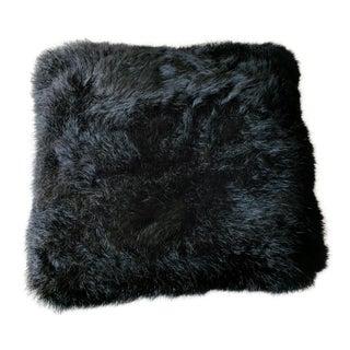 Black Fur Decorative Pillow
