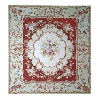 """Pasargad Aubusson Hand Woven Wool Rug - 10' 6"""" x 13' 3"""""""
