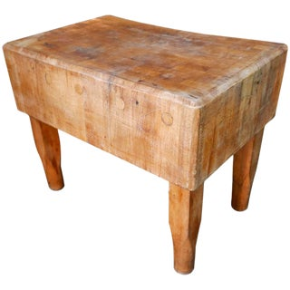Rustic New York Meat Market Butcher Block