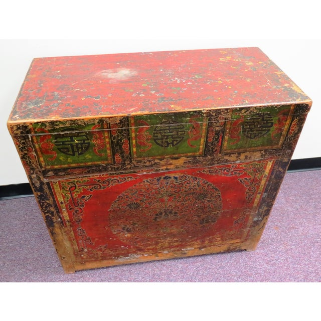 Antique Qing Dynasty Chinoiserie Lacquer Cabinets - Image 2 of 11