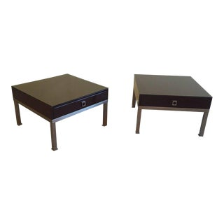 1970s French Pair of Side Tables by Guy Lefèvre for Maison Jansen