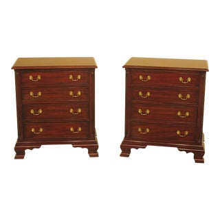 Henkel Harris Model #116 Mahogany 4 Drawer Nightstands - a Pair