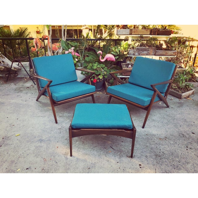 Image of Selig Z Lounge Mid Century Modern Chairs - Pair