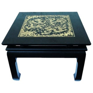 Asian Styled Side Table with Dragon Design