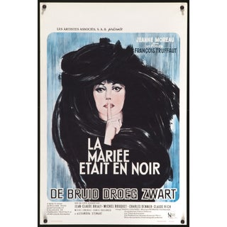 """The Bride Wore Black"" 1968 Belgian Film Poster"