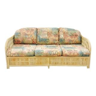 Vintage Woven Wicker & Rattan Sofa