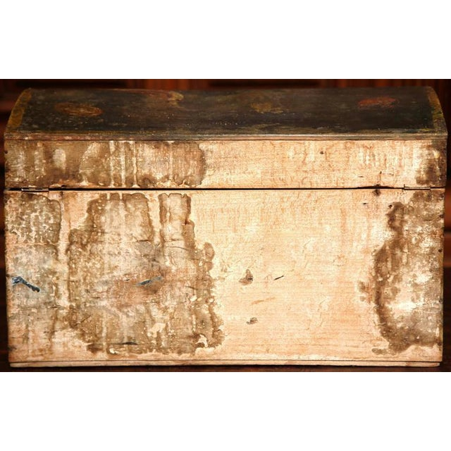 18th Century French Hand Painted Floral Wedding Box - Image 8 of 9