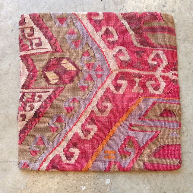Image of Vintage Red Kilim Pillow