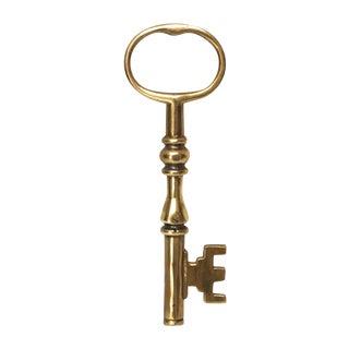 Oversized Brass Skeleton Key