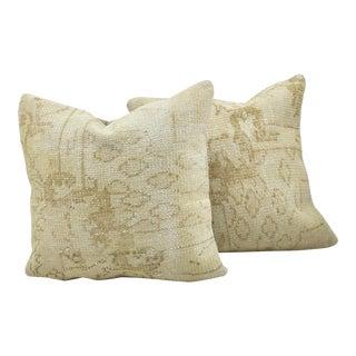 Vintage Turkish Anatolian Textile Pillows - A Pair