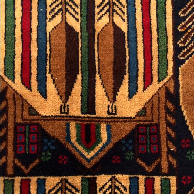 "Vintage Handmade Persian Baluchi Rug - 2'10""x4'7"" - Image 5 of 10"