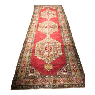 "Bellwether Rugs Vintage Turkish Oushak Runner - 4'1""x12'4"""
