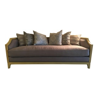 Custom Settee Sofa With Pillows