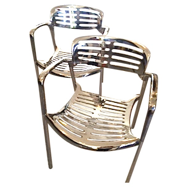 Vintage Aluminum Chairs - a Pair - Image 1 of 3