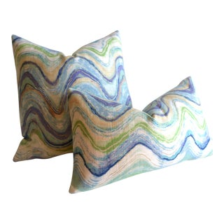 Linen Agate Pillows - A Pair