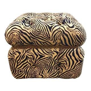 Caracole Tiger Stripe Storage Ottoman