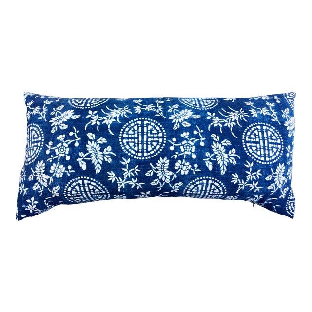 Antique Indigo Batik Pillow - Image 1 of 6