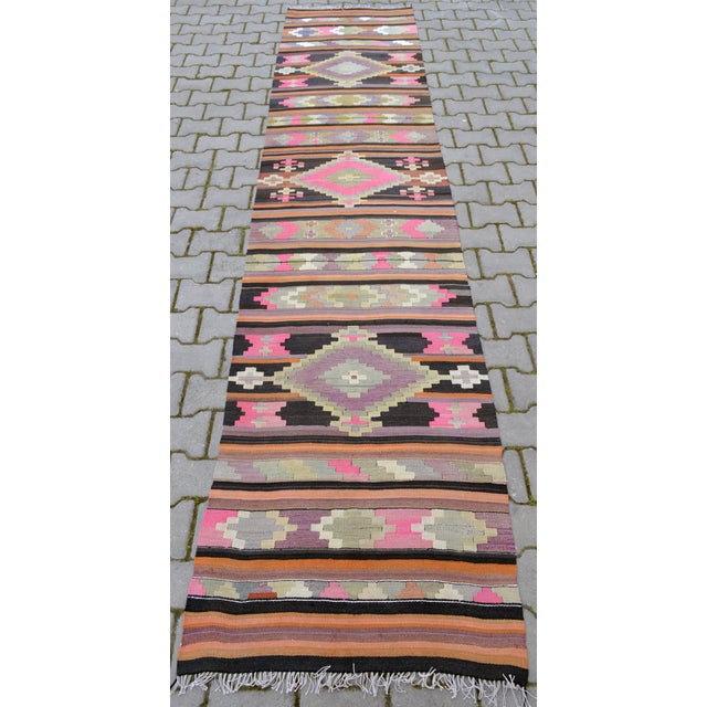 Hand Woven Vintage Turkish Runner - 2′7″ × 9′2″ - Image 2 of 10