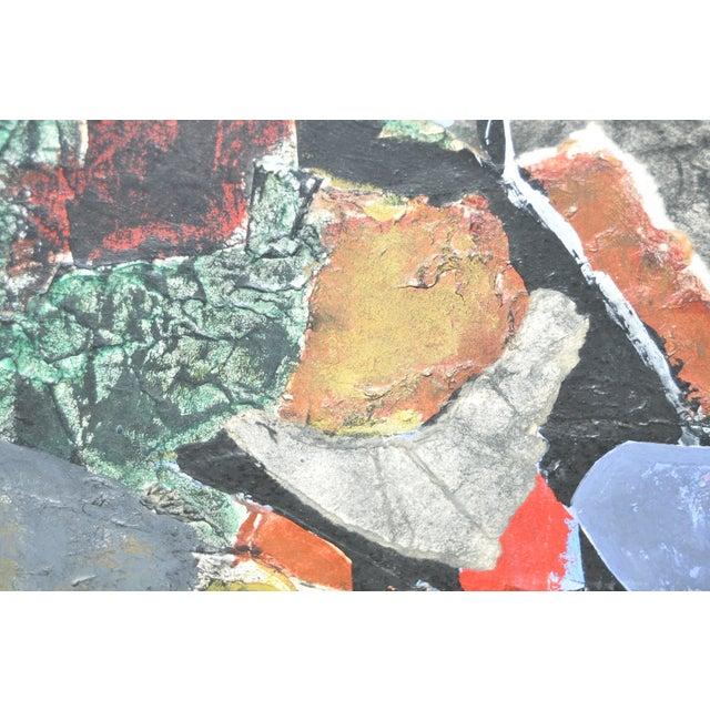 James Grant (1924–1997) Mixed Media Abstract 1963 - Image 4 of 6